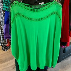 Jelly green plus size top